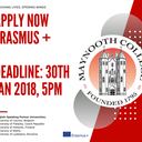 Applications now open for Erasmus+